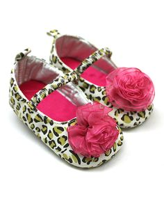 Take a look at the Tender Toes Fuchsia Cheetah Flower Mary Jane on #zulily today!