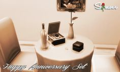 Sims 4 Updates: Simour - Objects, Decor : Happy Anniversary Set Conversion, Custom Content Download!