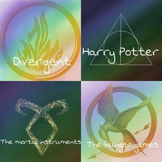Harry Potter Hunger Games Divergent Mortal instrument books | Divergent, harry potter, the mortal instruments and the hunger games