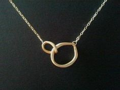 Eternity love Circle Gold Necklace by lottie