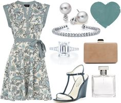 """Blue Paisley"" by yellowbells on Polyvore"