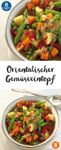Orientalischer Gemüseeintopf | 8 SmartPoints/Portion, Weight Watchers, Eintopf, fertig in 60 min.