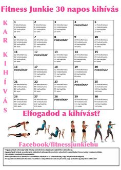 30 napos kar kihívás Entertainment Center Redo, Free Games For Kids, New Year New Me, Development Board, Thigh Exercises, Cardio, Fitness Motivation, Health Fitness, Challenges