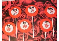 Betty Boop Cupcake Toppers