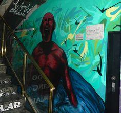 Mural Bond Street, entrada Riobamba.  Trabajo realizado para los 50 años de la Galería.