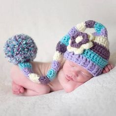 Mixed Color Baby Handmade Beanies Knitted Crochet photo props Newborn photo baby Hats