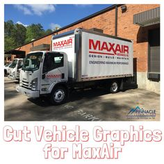 Design   Build   Maintain & Haul in Style! #VehicleGraphics for Maxx Air Mechanical! #betterfromthetop
