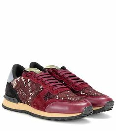7d57dff99af7 Ganni Plateau-Sneakers Naomi aus Veloursleder
