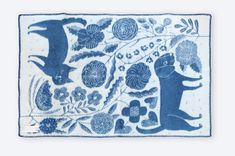 Makoto Kagoshima Kagoshima, Screen Printing, Weird, Sketch, Blue And White, Kids Rugs, Illustrations, Ceramics, Blanket