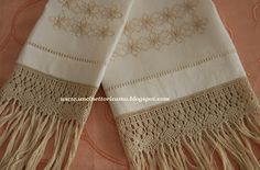 Uncinetto&Ricamo: asciugamani macramè
