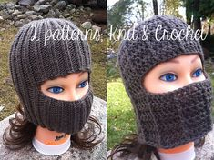 Knit and Crochet Fold-Down Hat (2 Patterns) someone make this for me?