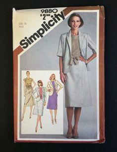 Simplicity Pattern 9880 Size 16 Miss Skirt Top by CasssOddsandEnds