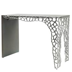 Modern and artistic, the Annabelle console table features cut-out circle clusters on one side of the base and grey wooden structure on the other side, this on-trend collection will be sure to add texture and design to your home. Mirrored Bedroom Furniture, Grey Wood, Picture On Wood, Console Table, Entryway Tables, Texture, Modern, Design, Home Decor