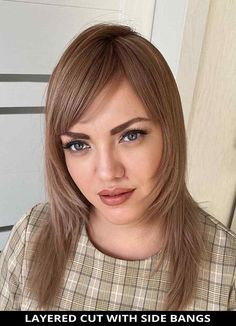 Consider this trendy layered cut with side bangs for your next haircut! Need more hair inspo like this? Tap visit to learn more about this look. | Medium Haircut | Side Bangs | Layered Cut | Photo Credit: @nikitenko_elen on Instagram Medium Layered Haircuts, Medium Hair Cuts, Cut Photo, Side Bangs, Trending Haircuts, Latest Hairstyles, Hair Inspo, Photo Credit, Hair Styles