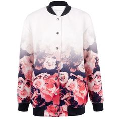 Finders Keepers - Youth wasted floral bomber (3 925 UAH) ❤ liked on Polyvore featuring outerwear, jackets, tops, oversized jacket, flower print bomber jacket, flight jacket, pink bomber jacket and floral bomber jacket