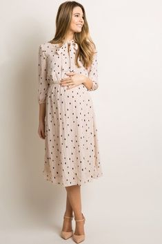 This style was created to be worn before, during, and after pregnancy. #pregnancydress,