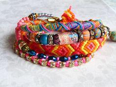 Next festival is not too far away.. Festival Bracelet. $52.00, via Etsy.