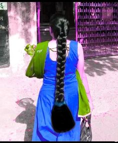 Relax it is still very long and silky hair.after cleaning up the bottom.she WAs suprise and amaze at that. She said beautiful cut. Long Silky Hair, Long Black Hair, Super Long Hair, Long Ponytail Hairstyles, Indian Hairstyles, Indian Long Hair Braid, Braids For Long Hair, Long Hair Play, Playing With Hair