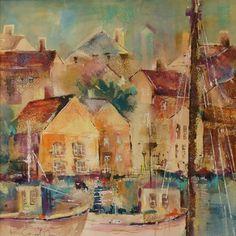 Cornish Harbour - Gallery - Elisabeth Carolan Art - Artist in watercolour, acrylic and mixed media - Woking Surrey