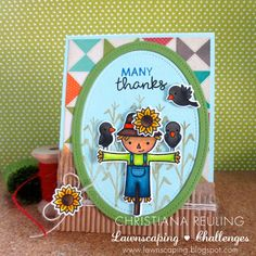 Christy Gets Crafty: Many Thanks - Lawnscaping Challenge #113