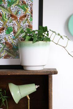 MY ATTIC SHOP / vintage flowerpot / greens / plants www.entermyattic.com
