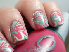 My best water marble nails yet!