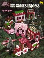Plastic Canvas Santa's Express by Cheryl Hofe. Copyright 1990 by American School of Needlework, 17 page book, book is used in good condition has Plastic Canvas Christmas, Plastic Canvas Crafts, Plastic Canvas Patterns, Christmas Train, Christmas Crafts, Christmas Ornaments, Christmas Patterns, Christmas Card Display, Christmas Settings