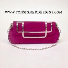 Brand New Christian Dior Hot Pink/Fuchsia Deco Suede Shoulder Bag/Clutch for $750. #dior #christiandior #fashion #style #bagporn #bagoftheday