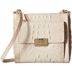 Brahmin Mimosa (Cava) Cross Body Handbags ($195) ❤ liked on Polyvore featuring bags, handbags, shoulder bags, crossbody purse, leather hand bags, leather shoulder handbags, brahmin handbags and leather crossbody