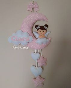 Baby Shower Crafts, Baby Crafts, Baby Boy Shower, Congratulations Images, Felt Ornaments Patterns, Blue Wedding Centerpieces, Felt Gifts, Baby Mobile, Felt Baby