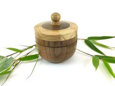 Wooden turned box made from Walnut & Oak, Wooden keepsake box, Woodturning, Ring box, Jewellery box, SilvanWoodturning by SilvanWoodturning on Etsy