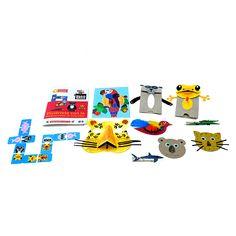 Caja BeeBox Biodiversidad 🌳.  Cada caja de BeeBox incluye 3 o 4 manualidades con los materiales y el instructivo para desarrollar los proyectos, actividades que vas a encontrar en esta caja: los niños podrán crear divertidos animales, aprender y respetar la naturaleza.