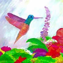 """""""Hummingbird"""" This was inspired by one of my favorite quotes from the book of Matthew. """"Look at the birds of the air, they do not sow nor reap, or stow away in barns, yet your Father in Heaven takes care of them."""""""