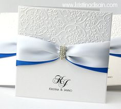 blue-white wedding invitations