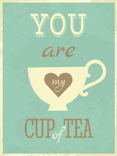Blue 'Cup of Tea' Print