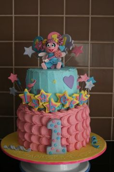 Abby Cadabby Cake. I love Abby Cadabby!  Sadly, I never got a little girl to make something like this for.  My son frowns at the idea! LOL