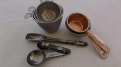 Vintage Measuring Spoons and Measuring Cups Lot, 4 Items by AnniesVintageRedone on Etsy https://www.etsy.com/listing/272818842/vintage-measuring-spoons-and-measuring