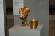 The Ringlemere and Rillaton Gold Cups.Source: portableantiquities/Flickr