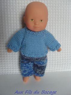 Habits de poupon mini câlin de Corolle 20 cm, pull et pantalon : Jeux, jouets par aux-fils-du-bocage