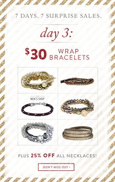 The wrap bracelets are super cute and versatile. They have become bestsellers as people wear them not only as bracelets but also necklaces, headbands and even belts and lanyards for work IDs!! Get yours today for only $30  but hurry bc this promo ends 11:59 tonight!!  http://www.chloeandisabel.com/boutique/kristelcaffrey/146a13 #candi #chloeandisabel #holiday2015 #jewels #sparkle #shine #sparkleandshine #shop #shopping #jewelry #smallbusiness #supportsmallbusiness #bling #fashion