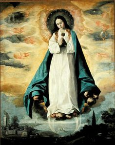 Mary as the Immaculate Conception, painted by Franciso de Zurbaran (1598 - 1664).