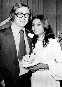 1-8, 1973 Actor Michael Caine married Shakira Baksh in an evening wedding in Las Vegas. They are still married today.