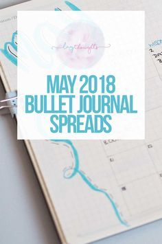 May 2018 bullet journal spreads | Find loads of new pages for the month of May over on Lazy Thoughts. From a new weekly plan to food diaries and a mood log, I've really gone all out for the month ahead!