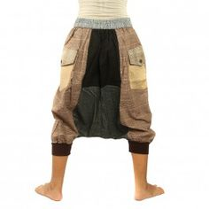 3/5 Harem pants on the side for buttoning with elastic band