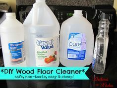 DIY Wood Floor Cleaner *safe, non-toxic, easy and cheap! (works on solid wood, engineered hardwood and laminate flooring! It did amazing things for my floor I just put it right into my refillable bottle. Cheap Hardwood Floors, Diy Wood Floors, Engineered Hardwood, Laminate Flooring, Diy Flooring, Flooring Ideas, Cleaning Wood Floors, Wood Laminate, Homemade Cleaning Products