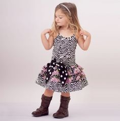 Zebra Spaghetti Strap Dress