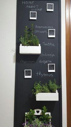 Colorful Kitchen Decor, Kitchen Colors, Kitchen Chalkboard, Chalkboard Walls, Caravan Decor, Sweet Home, Chalk Wall, Coffee Shop Design, Küchen Design