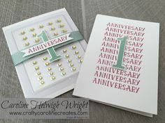 CraftyCarolineCreates: 1st Anniversary Celebration with Number of Years by Stampin' Up