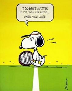 Snoopy Tennis, - original vintage poster by Charles M. Schulz- I love Snoopy and tennis :) Snoopy Love, Charlie Brown And Snoopy, Snoopy And Woodstock, Tennis Party, Play Tennis, Tennis Serve, Tennis Match, Tennis Funny, Tennis Humor