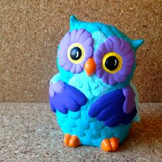 Upcycled painted owl ceramic sculpture by misplacedmichigander, $8.00